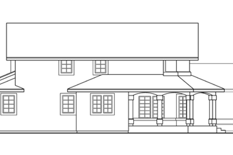 Mediterranean Exterior - Other Elevation Plan #124-409 - Houseplans.com