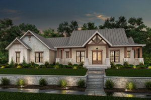 Dream House Plan - Farmhouse Exterior - Front Elevation Plan #430-229