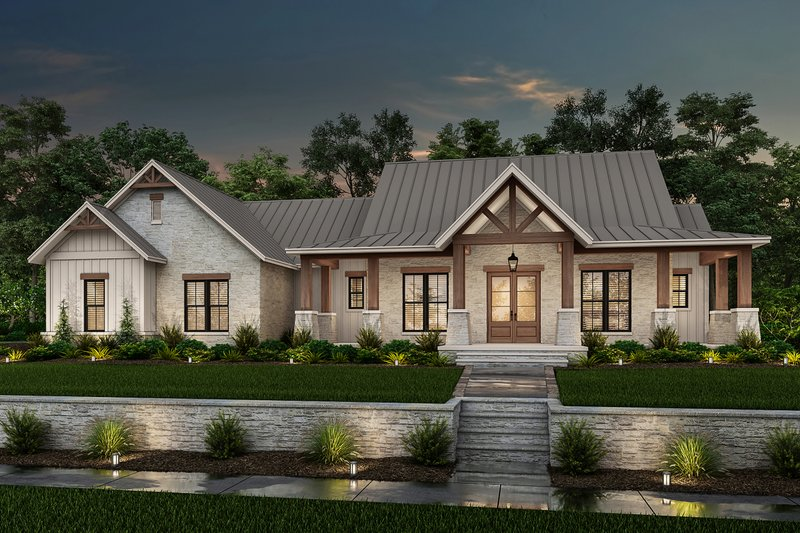 Farmhouse Exterior - Front Elevation Plan #430-229