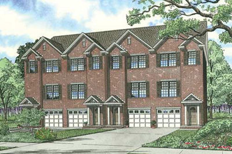 European Style House Plan - 2 Beds 2.5 Baths 5456 Sq/Ft Plan #17-1172 Exterior - Front Elevation
