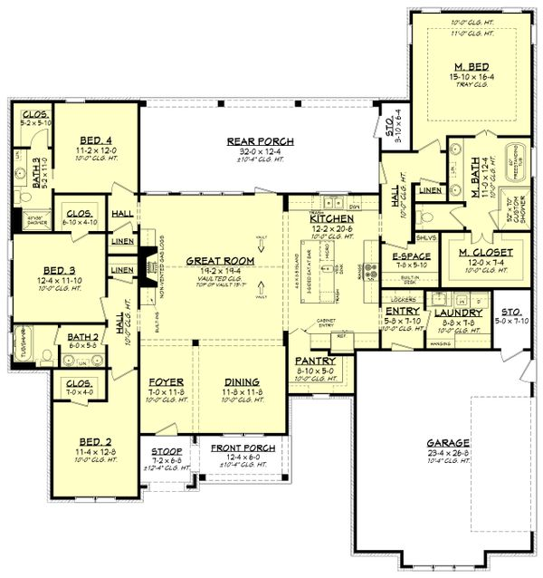 Farmhouse Floor Plan - Main Floor Plan Plan #430-220