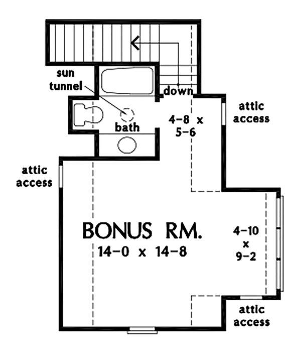 Cottage Floor Plan - Upper Floor Plan #929-1093