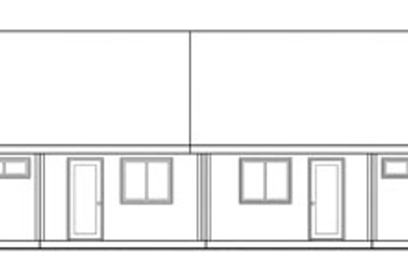 Exterior - Rear Elevation Plan #124-807 - Houseplans.com