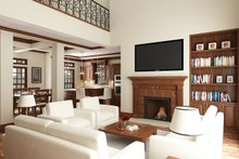 Southern Interior - Family Room Plan #45-571