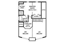 Cottage Floor Plan - Upper Floor Plan Plan #126-217