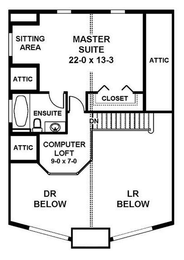 Cottage Floor Plan - Upper Floor Plan #126-217