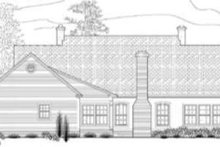 Southern Exterior - Rear Elevation Plan #406-110
