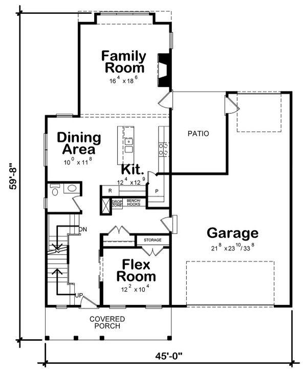 Farmhouse Floor Plan - Main Floor Plan #20-2392