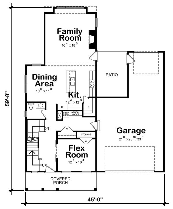 House Plan Design - Farmhouse Floor Plan - Main Floor Plan #20-2392