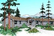 Ranch Style House Plan - 3 Beds 2 Baths 2196 Sq/Ft Plan #60-338 Exterior - Front Elevation