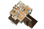 European Style House Plan - 4 Beds 3 Baths 3828 Sq/Ft Plan #25-4631 Floor Plan - Upper Floor Plan
