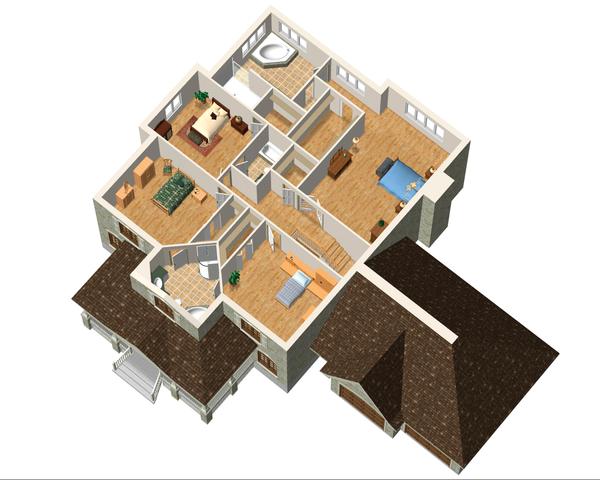 European Floor Plan - Upper Floor Plan Plan #25-4631