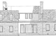 Southern Style House Plan - 3 Beds 3 Baths 2686 Sq/Ft Plan #137-140 Exterior - Rear Elevation