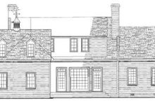 Southern Exterior - Rear Elevation Plan #137-140