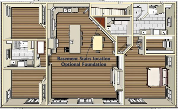 Bungalow Floor Plan - Other Floor Plan #44-238
