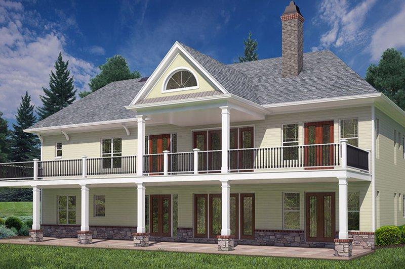 Craftsman Exterior - Rear Elevation Plan #119-425 - Houseplans.com