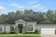 European Style House Plan - 4 Beds 3 Baths 3068 Sq/Ft Plan #1058-129 Exterior - Front Elevation