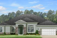 Home Plan - European Exterior - Front Elevation Plan #1058-129