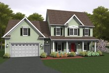 Home Plan - Colonial Exterior - Front Elevation Plan #1010-82