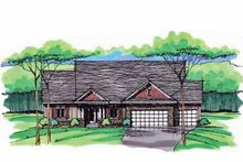 European Exterior - Front Elevation Plan #51-996