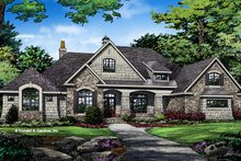 Architectural House Design - European Exterior - Front Elevation Plan #929-1008