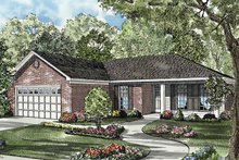 Dream House Plan - Country Exterior - Front Elevation Plan #17-3169