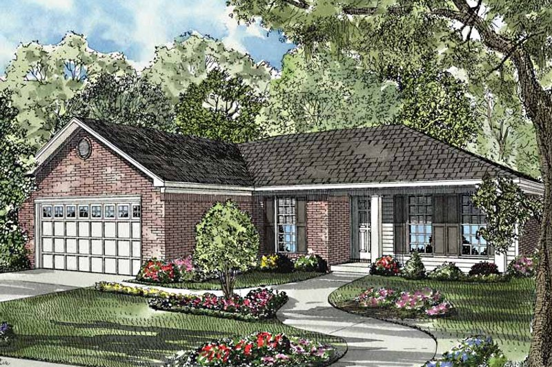 Country Exterior - Front Elevation Plan #17-3169 - Houseplans.com