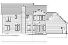 Colonial Exterior - Rear Elevation Plan #1010-175