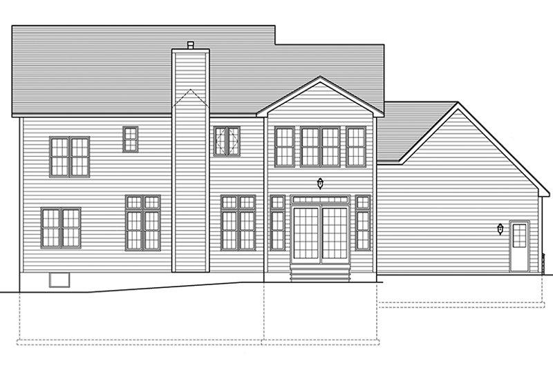 Colonial Exterior - Rear Elevation Plan #1010-175 - Houseplans.com