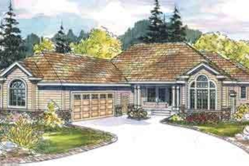 Dream House Plan - Ranch Exterior - Front Elevation Plan #124-535