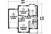 Traditional Style House Plan - 3 Beds 1 Baths 1773 Sq/Ft Plan #25-4495 Floor Plan - Main Floor Plan