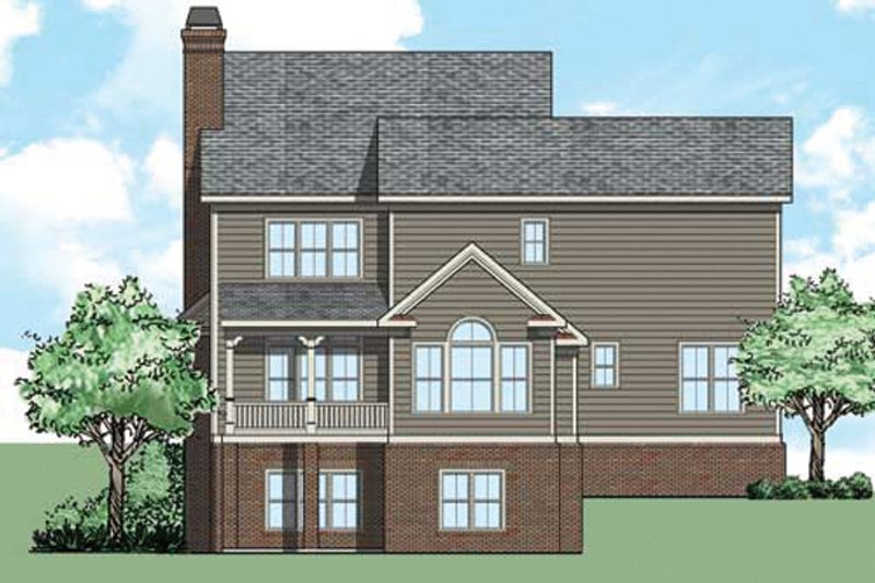 Traditional Exterior - Rear Elevation Plan #927-494 - Houseplans.com