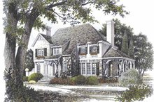 Country Exterior - Front Elevation Plan #429-71