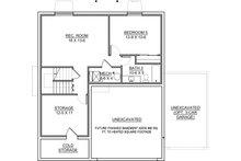 Traditional Floor Plan - Lower Floor Plan Plan #1073-9