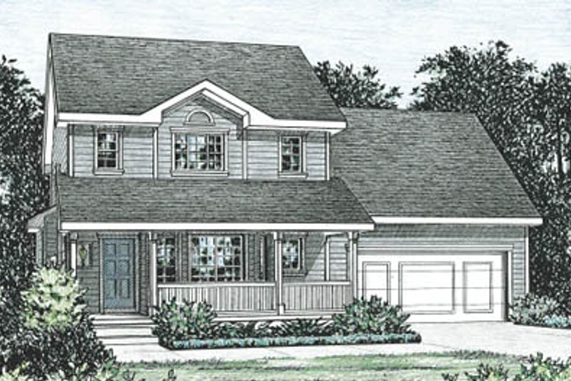 Traditional Exterior - Front Elevation Plan #20-1246 - Houseplans.com