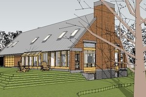 Contemporary Exterior - Front Elevation Plan #481-1