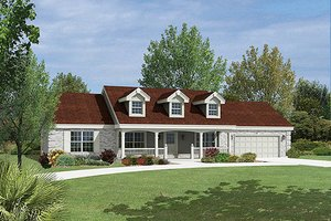 Home Plan Design - Ranch Exterior - Front Elevation Plan #57-339