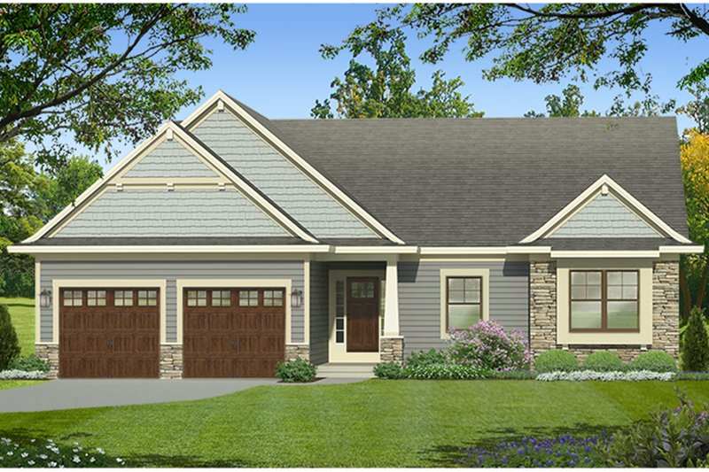 Architectural House Design - Ranch Exterior - Front Elevation Plan #1010-184