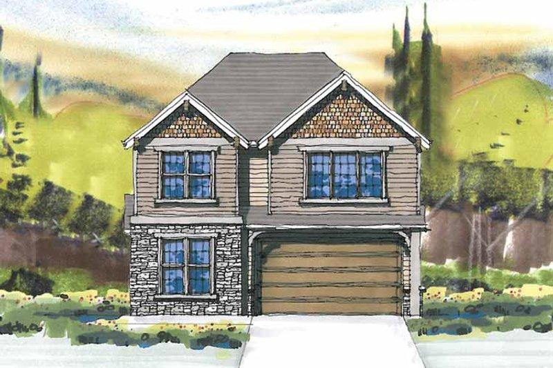 Craftsman Exterior - Front Elevation Plan #509-288 - Houseplans.com