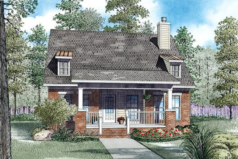 Bungalow Style House Plan - 3 Beds 2 Baths 1534 Sq/Ft Plan #17-2470 Exterior - Front Elevation
