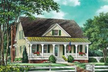 Home Plan - Country Exterior - Front Elevation Plan #137-336