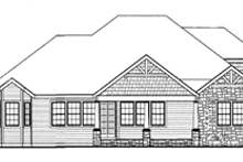 Craftsman Exterior - Rear Elevation Plan #314-271