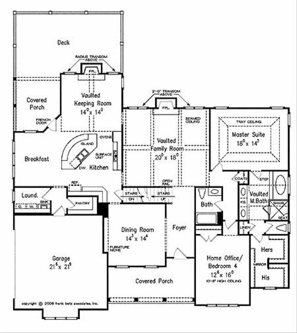 Country Floor Plan - Main Floor Plan Plan #927-429