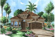 Mediterranean Style House Plan - 2 Beds 2 Baths 2033 Sq/Ft Plan #27-345 Exterior - Front Elevation