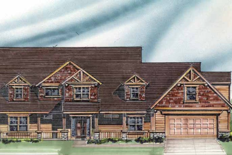 Craftsman Exterior - Front Elevation Plan #509-357