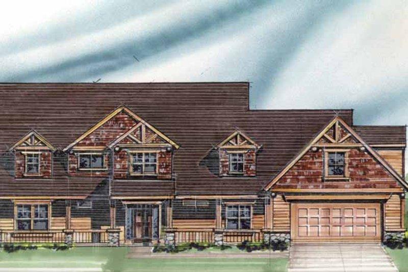 Craftsman Exterior - Front Elevation Plan #509-357 - Houseplans.com