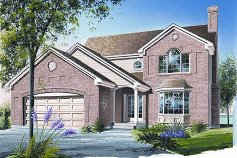 European Exterior - Front Elevation Plan #23-746 - Houseplans.com