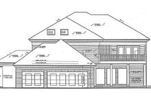 Colonial Exterior - Rear Elevation Plan #310-684