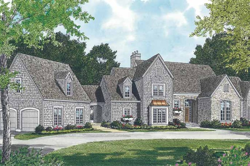 Architectural House Design - Country Exterior - Front Elevation Plan #453-118