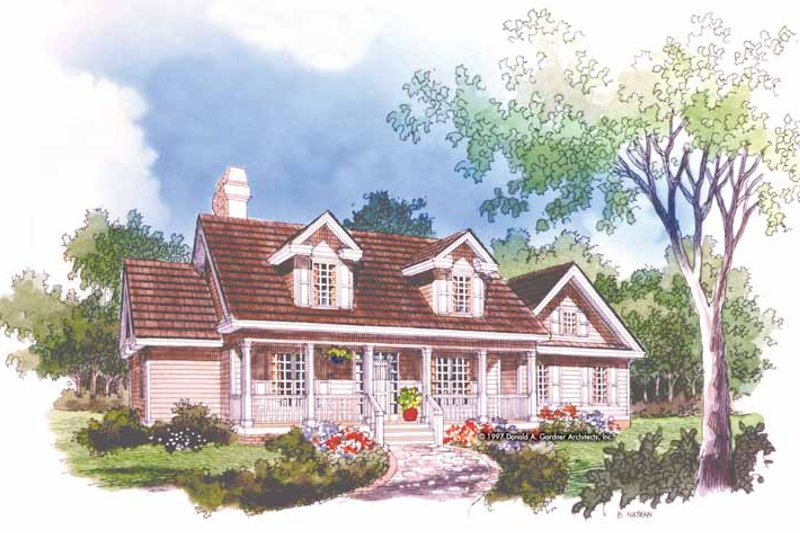 Country Exterior - Front Elevation Plan #929-495